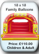 Bouncy Castle Hire Manchester - Adult Bouncy Castle 18x18