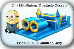 Bouncy Castle Hire Manchester - 24x12 Minions Obstacle Course