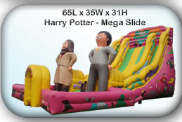 Bouncy Castle Hire Manchester - Harry Potter Mega Slide