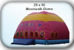 Bouncy Castle Hire Manchester - 25x30 Moonwalker Dome
