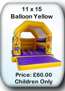 Bouncy Castle Hire Manchester - 11x15 Balloon Yellow