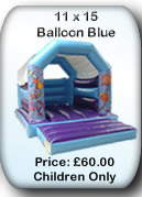 Bouncy Castle Hire Manchester - 11x15 Balloon Blue