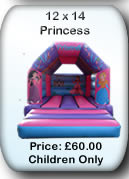 Bouncy Castle Hire Manchester - Princess 12x14