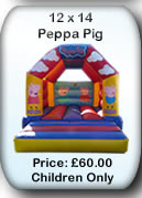 Bouncy Castle Hire Manchester - 12x14 Peppa Pig
