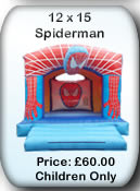 Bouncy Castle Hire Manchester - 12x15 Spiderman