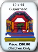 Bouncy Castle Hire Manchester - 12x15 Superhero