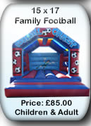 Bouncy Castle Hire Manchester - Adult Bouncy Castle 15x17 Football