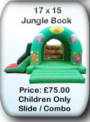 Bouncy Castle Hire Manchester - Jungle Combo 17x15