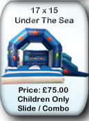 Bouncy Castle Hire Manchester - 17x15 Under The Sea Combo