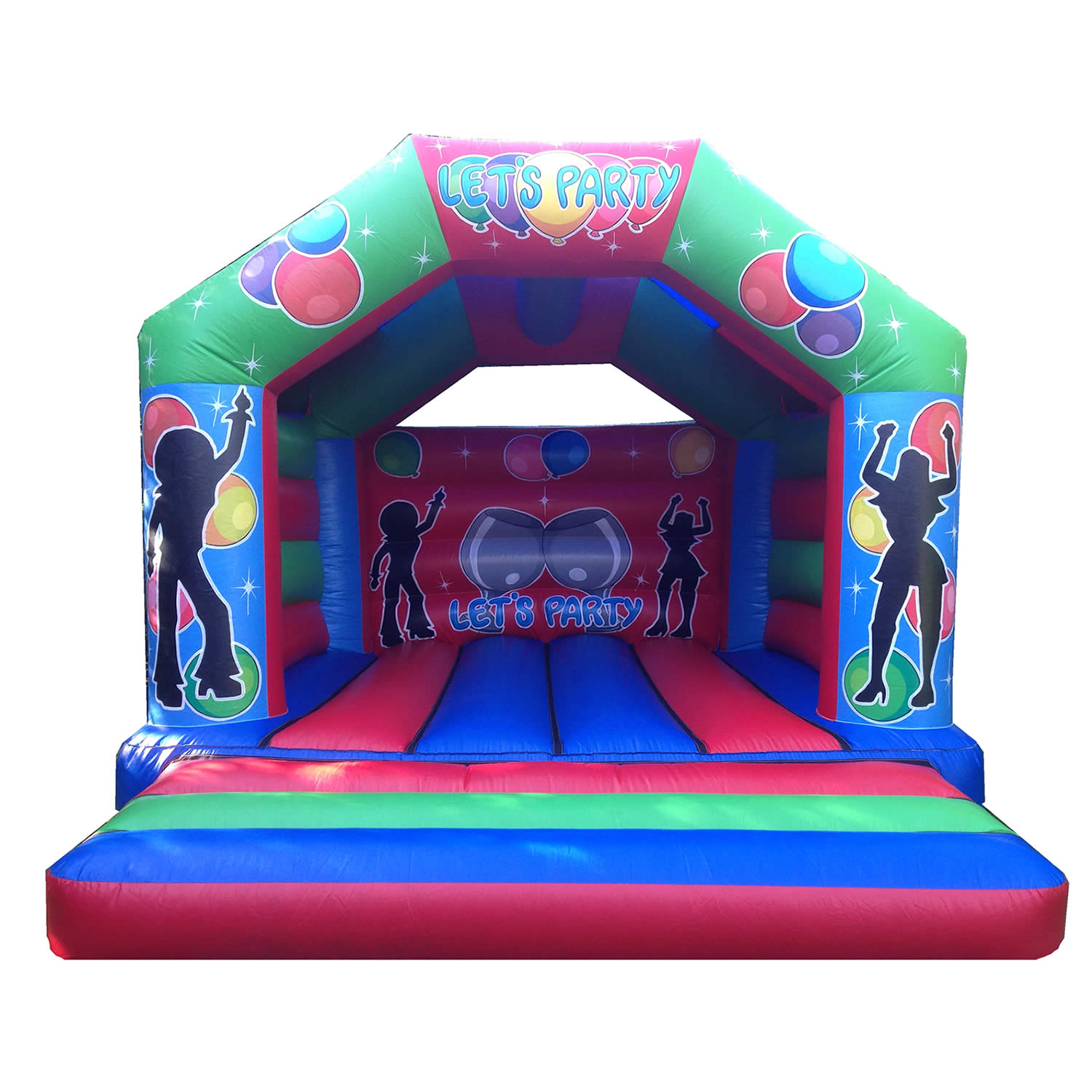 17 x 15 Family Bouncy Castle - Party Time Theme