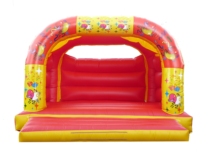 18 x 18 Family Bouncy Castle - Balloons Theme