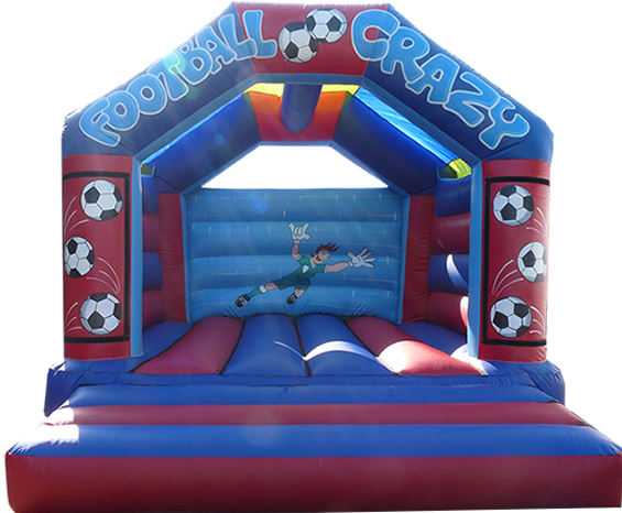15 x 17 Football Crazy Family Bouncy Castle