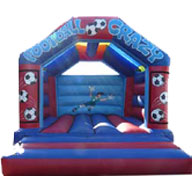 15 X 17 Family Bouncer - Football Theme (inc Adults) �85