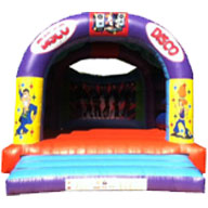 15 X 18 Family Bouncer - Disco Theme (inc Adults) £90
