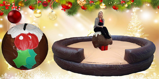 Christmas Rodeo Spinning Pudding