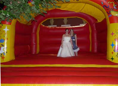 Bouncy castler hire Happy Bride